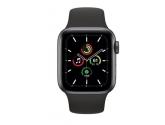 Apple Zegarek SE GPS, 40mm koperta z aluminium w kolorze gwiezdnej szarości z czarnym paskiem sportowym - Regular