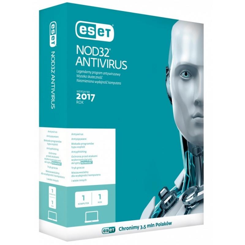 Eset NOD32 Antivirus PL Kon 1U 2Y ENA-K-2Y-1D