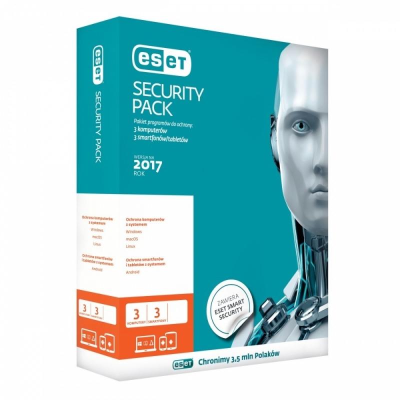 Eset Security Pack 3PC+ 3sm kon 3Y ESP-K-3Y-6D
