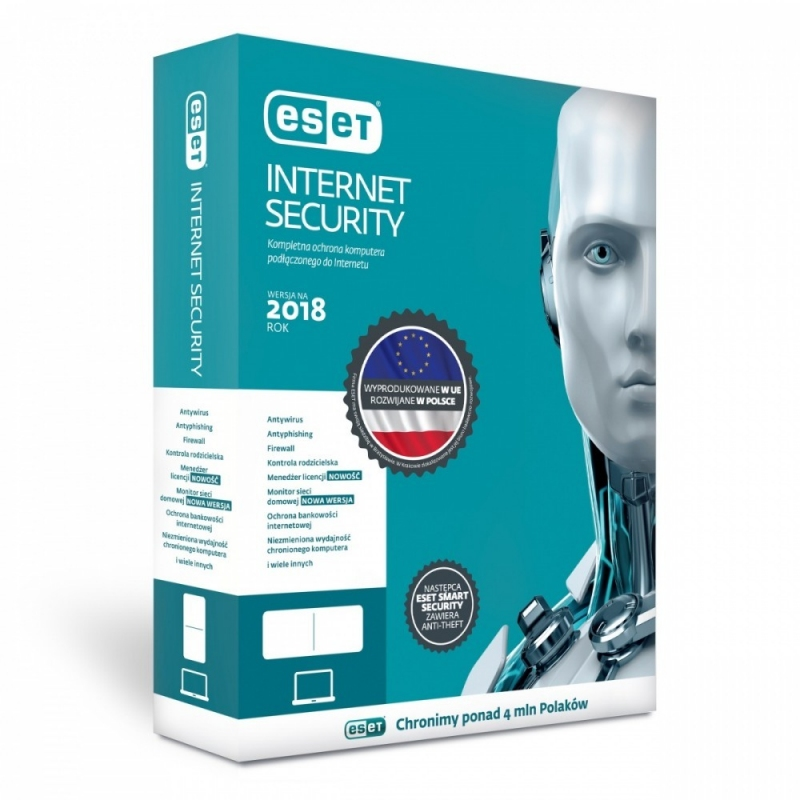 Eset Internet Security PL BOX 1Y kon EIS-K-1Y-1D