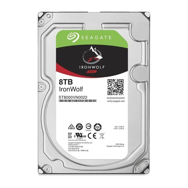Seagate Dysk IronWolf 8TB 3,5 256MB ST8000VN004