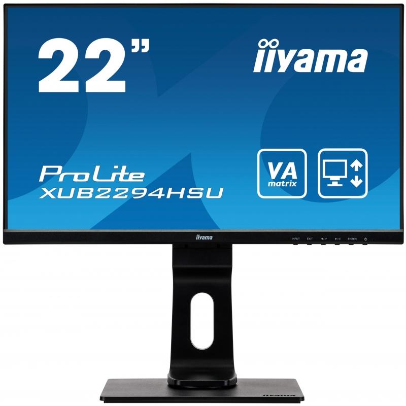 """monitor IIYAMA ProLite XUB2294HSU-B1 22"""" VA LED 4ms"""